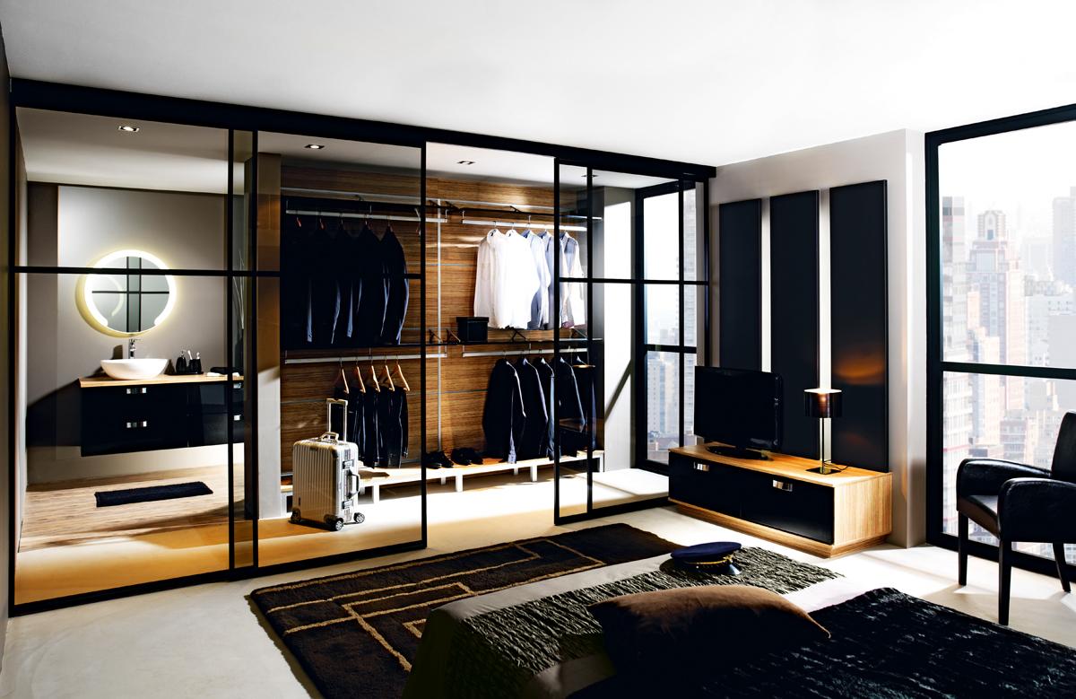 Salle de bain vicky laque noire perene lyon Salle de bain et dressing de luxe