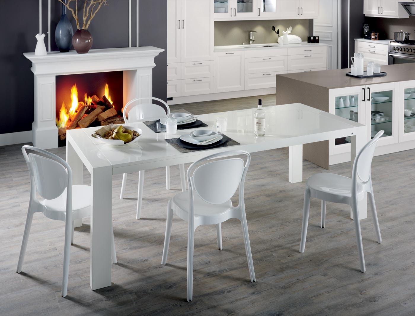 cuisine chronos laqu blanc structur perene lyon. Black Bedroom Furniture Sets. Home Design Ideas