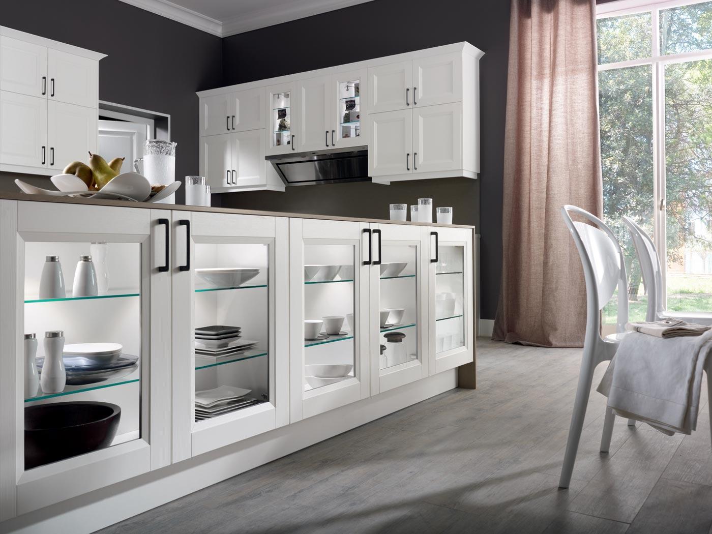 cuisine integree moderne recente blanc laque avec des id es int ressantes pour la. Black Bedroom Furniture Sets. Home Design Ideas
