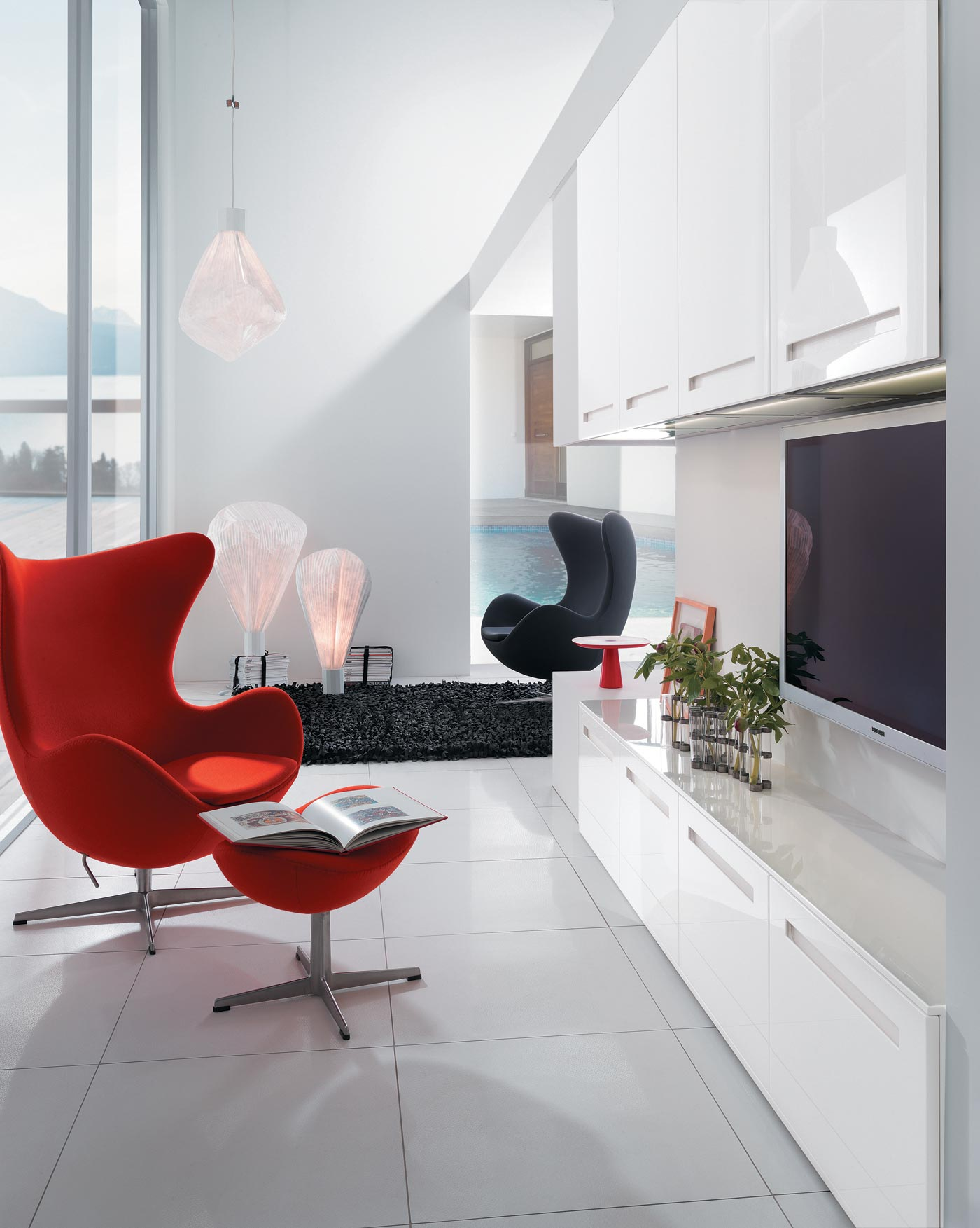 cuisine l500i laqu blanc brillant perene lyon. Black Bedroom Furniture Sets. Home Design Ideas