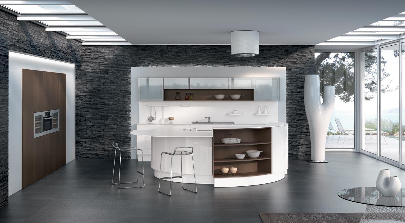Meuble de cuisine blanc brillant twitter facebook print Meuble de cuisine blanc brillant
