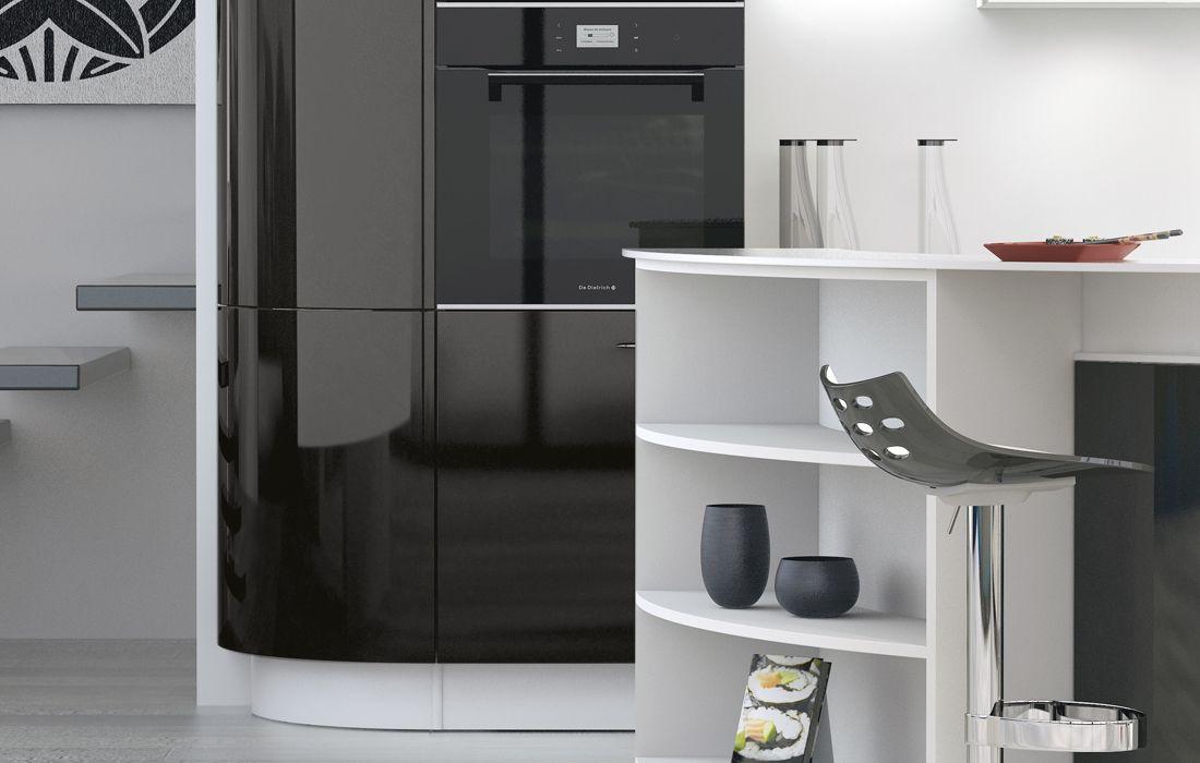 cuisine l500 equinoxe laqu noir brillant perene lyon. Black Bedroom Furniture Sets. Home Design Ideas