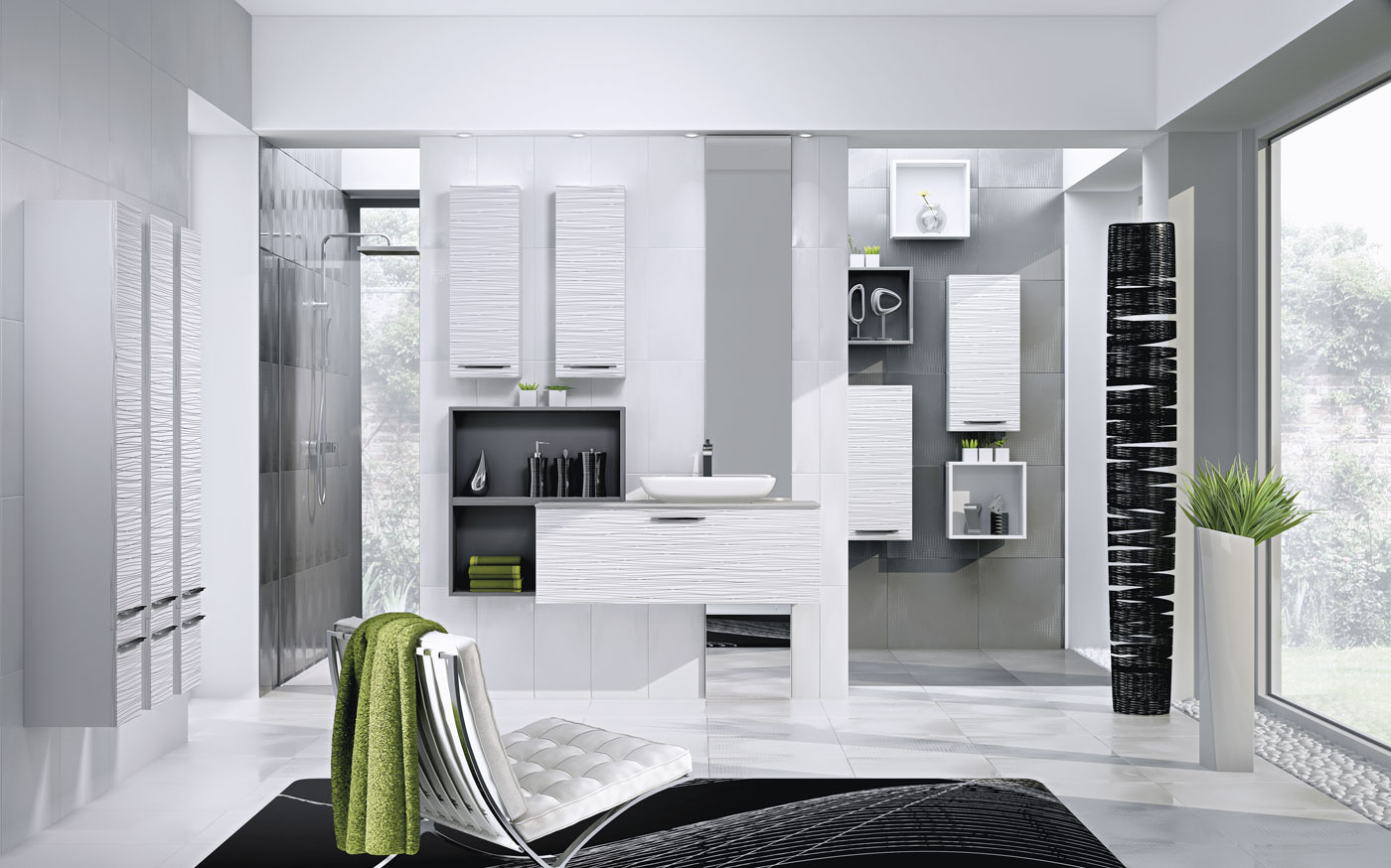 Salle de bain framboise et blanc: decoration salle de bain noire ...