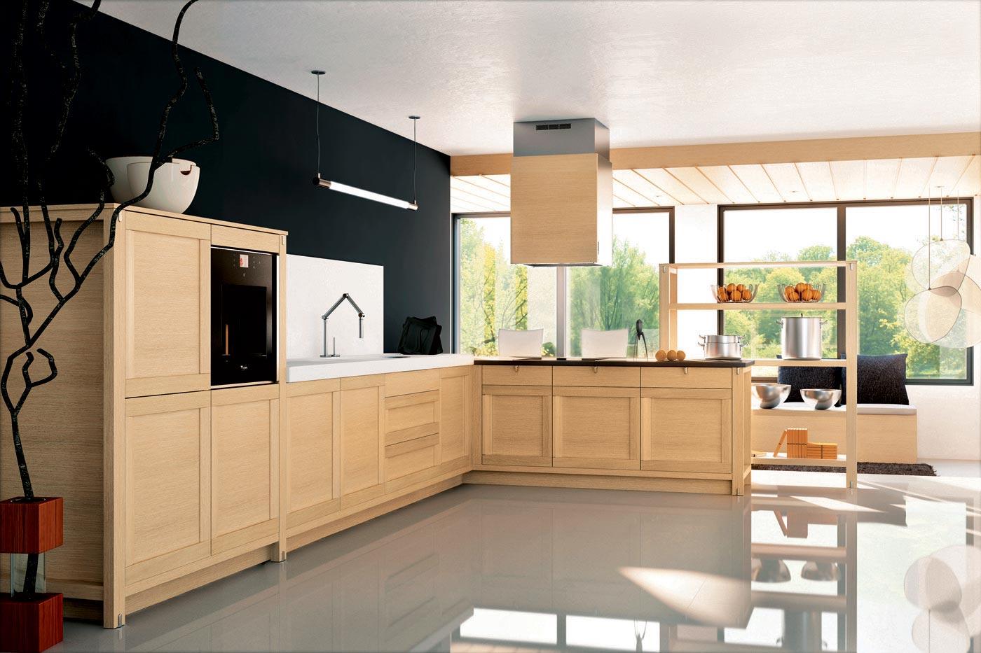 cuisine bois perene. Black Bedroom Furniture Sets. Home Design Ideas