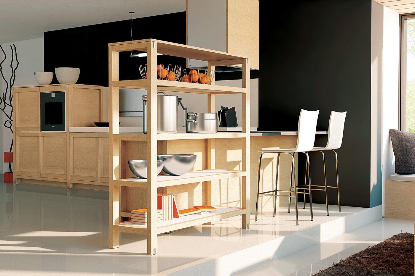 cuisine esquisse ch ne blanchi perene lyon. Black Bedroom Furniture Sets. Home Design Ideas