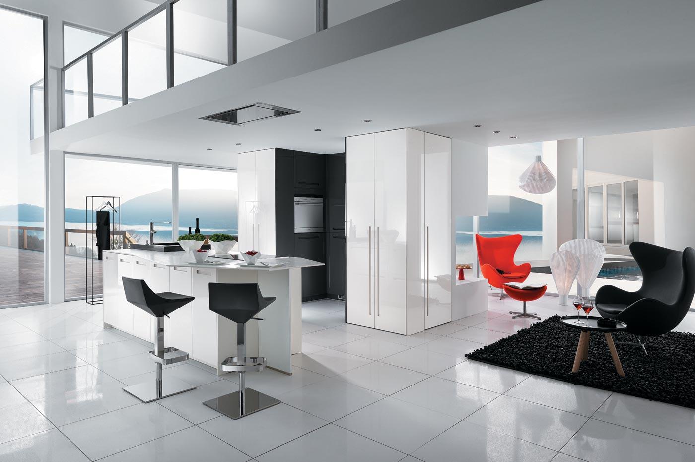 Faure agencement perene lyon cuisines salle de bains - Carrelage cuisine noir brillant ...