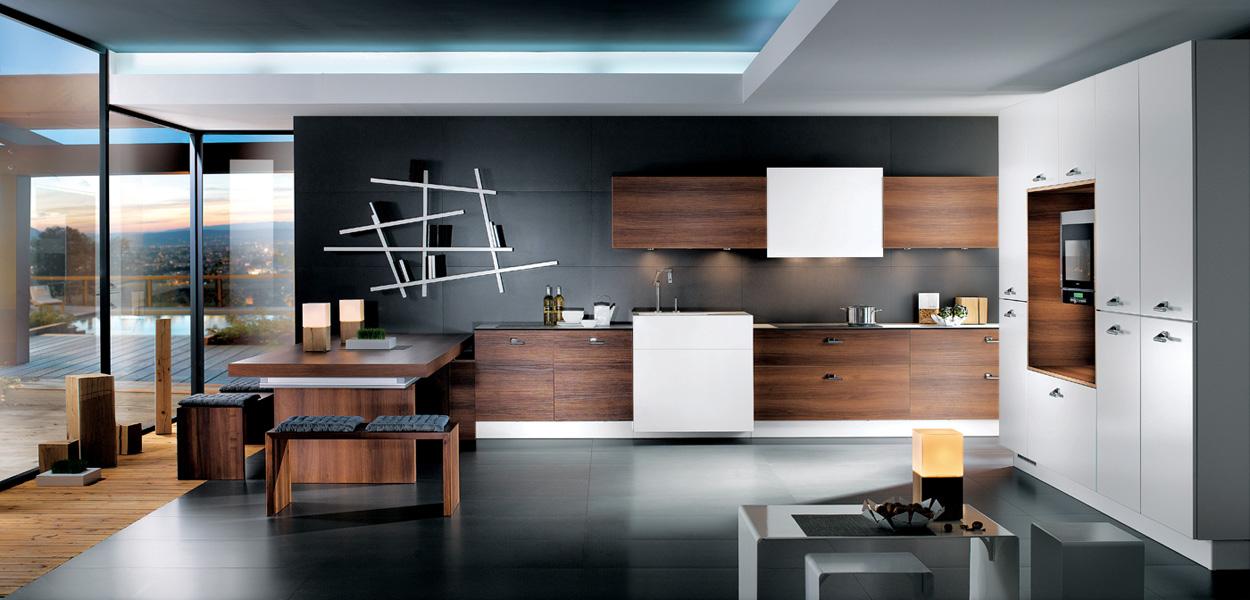 cuisine m100h m lamin noyer tabac et corian perene lyon. Black Bedroom Furniture Sets. Home Design Ideas