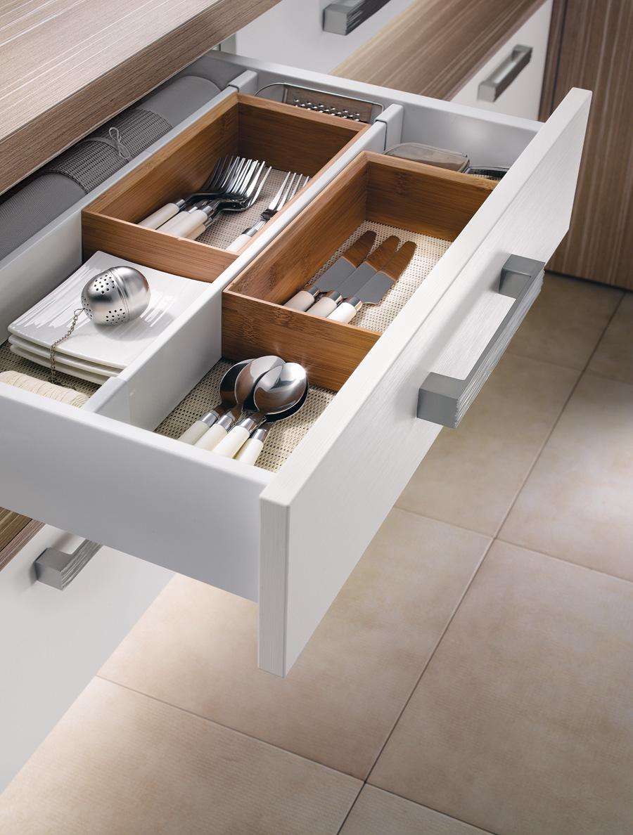 Cuisine m100h m lamin blanc fr ne m100 m lamin angelim for Rangement couverts tiroir cuisine