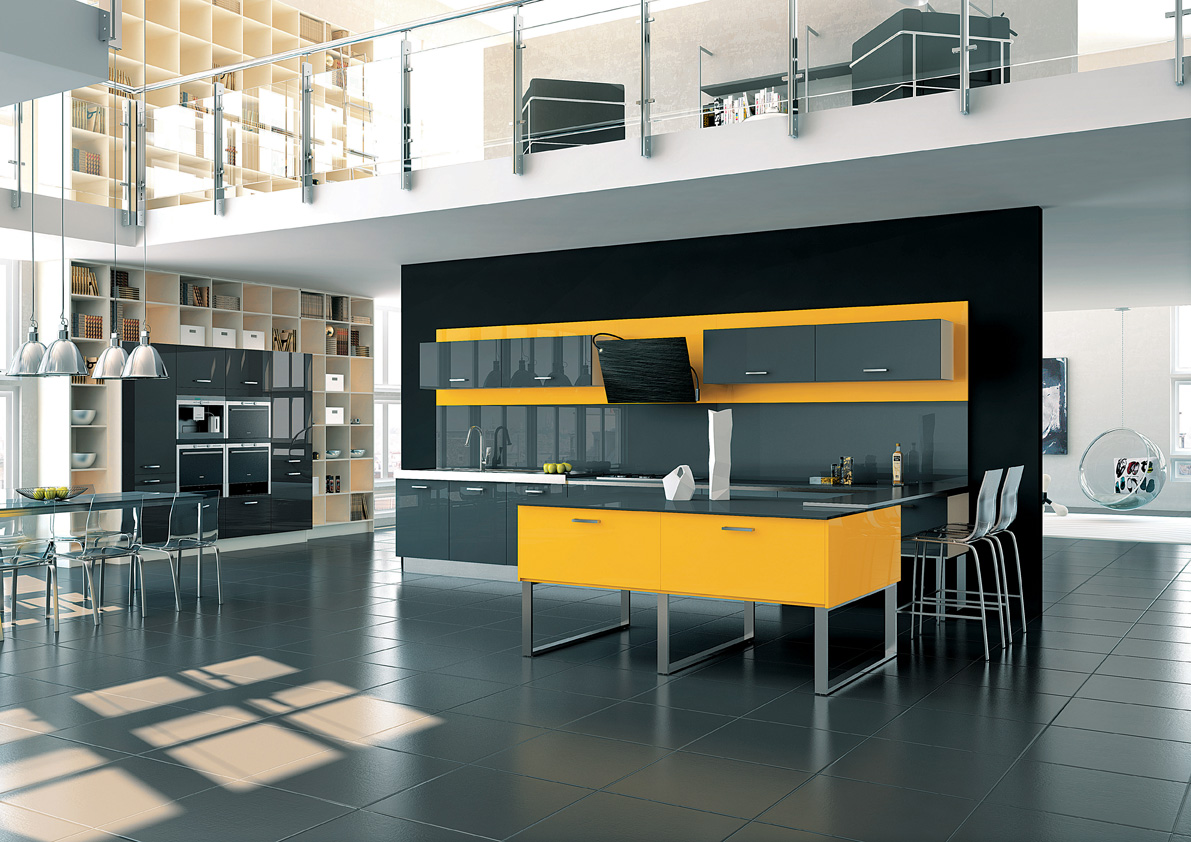 cuisine illusion lune d eau carbone jaune perene lyon. Black Bedroom Furniture Sets. Home Design Ideas