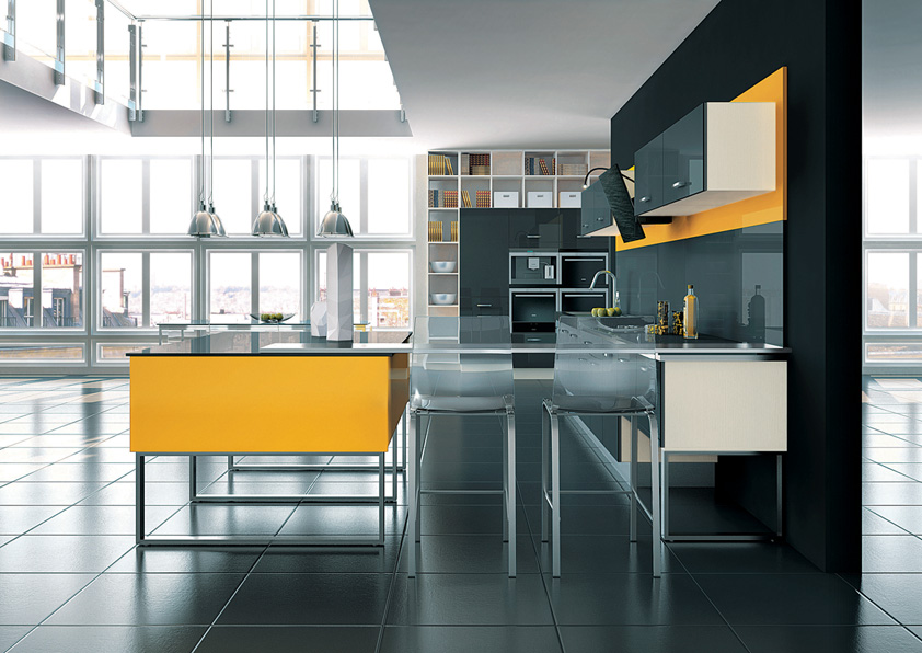 cuisine illusion lune d eau carbone jaune perene lyon. Black Bedroom Furniture Sets. Home Design Ideas