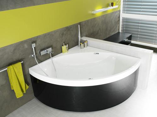 Bain d tails essentiels lugan vert olive noir satin for Salle bain baignoire d angle