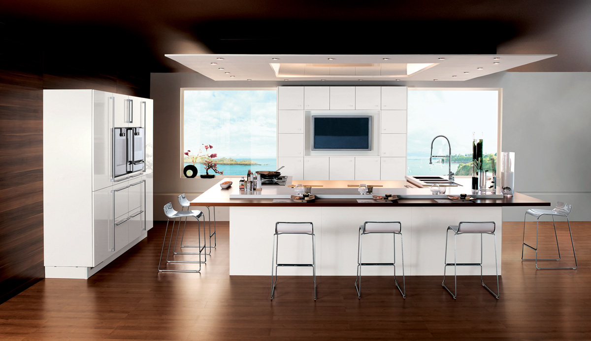 cuisine m100 m lamin blanc brillant perene lyon. Black Bedroom Furniture Sets. Home Design Ideas
