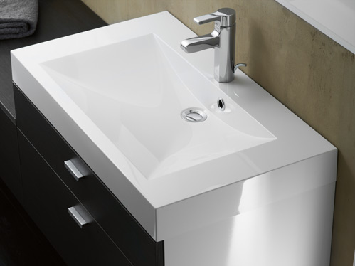 Salle de bain pago corce anthracite perene lyon for Baignoire faible largeur